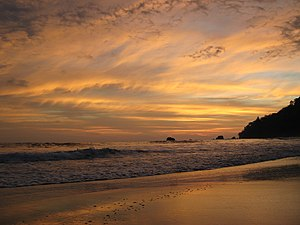 English: Sunset at Manuel Antonio, Costa Rica ...