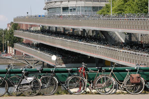 Bicycle parking lot in Amsterdam.