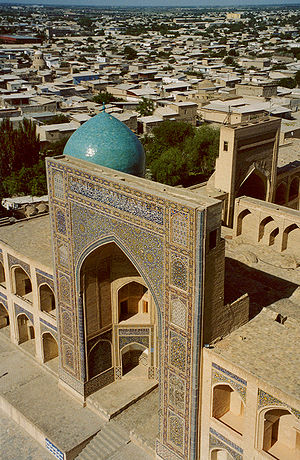 English: Miri Arab madressah in Bukhara. Photo...