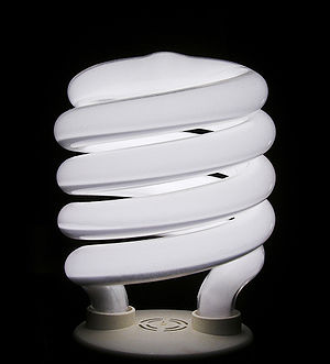 English: Compact fluorescent light bulb