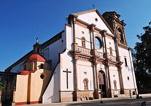 Facade of the Basilica of Nuestra Señora de la...