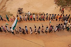foot march in India