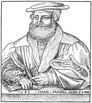 Hans Sachs, leader of a famous 16th-century Me...