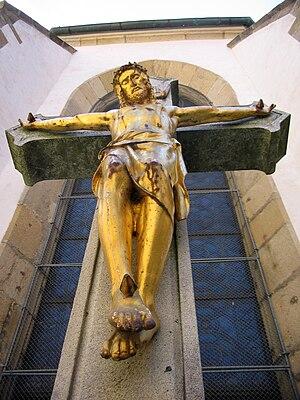 Jesus upon the cross.