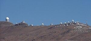 Vista panorámica del Observatorio de La Silla
