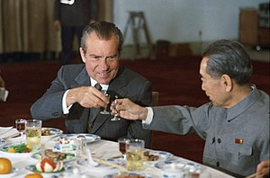 English: US President Richard Nixon and Chines...