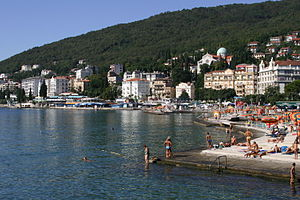 The seaside of Opatija