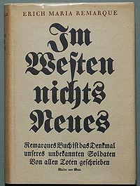 Remarque Im Westen nichts Neues 1929.jpg