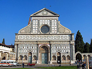 The façade of Santa Maria Novella, completed b...
