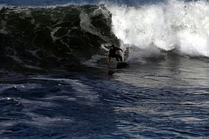 Surfing in Pacifica, California