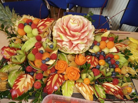 Thai fruit carving