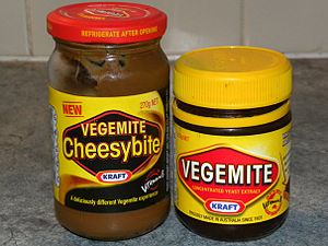 English: Vegemite and Cheesymite products from...