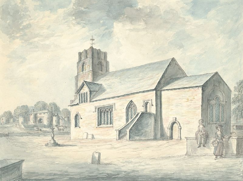 File:Whittington church and castle, 1793.jpg - Wikimedia Commons