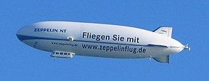 A Zeppelin NT airship.