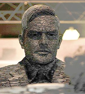 Allan Turing Statue, on display at Bletchley Park