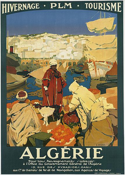 Vintage travel posters inspiring tourism to Algeria Africa