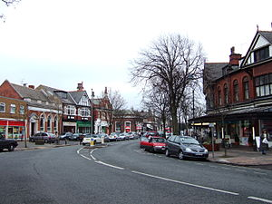 The village centre of Birkdale, Merseyside, En...