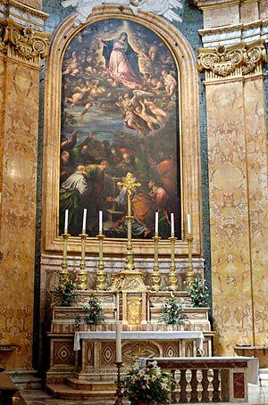 High altar the church San Luigi dei Francesi A...