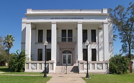 English: The Jim Hogg County Courthouse locate...