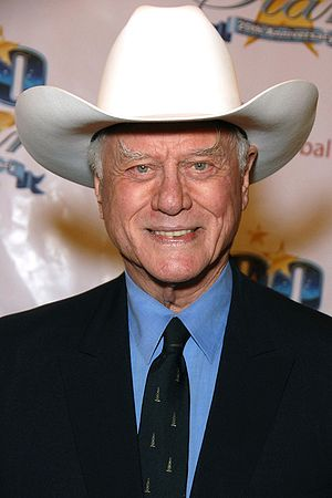 "English: Larry Hagman attending the ""Nigh..."