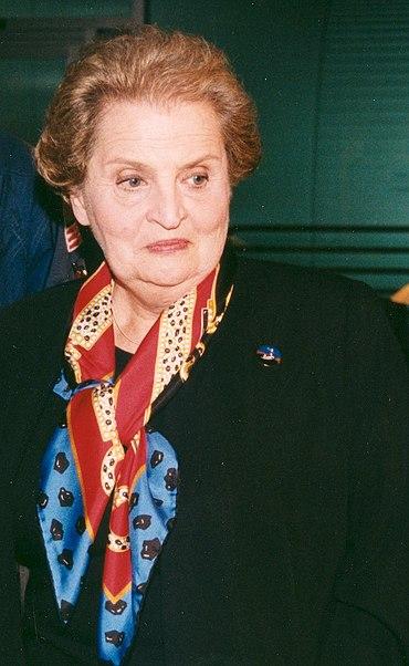 Madeleine Albright before STS 88.jpg