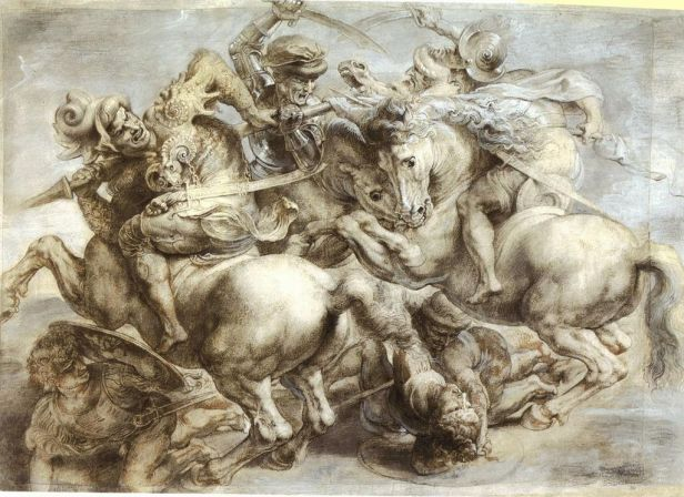 """The Battle of Anghiari"" by Peter Paul Rubens, after Leonardo da Vinci"
