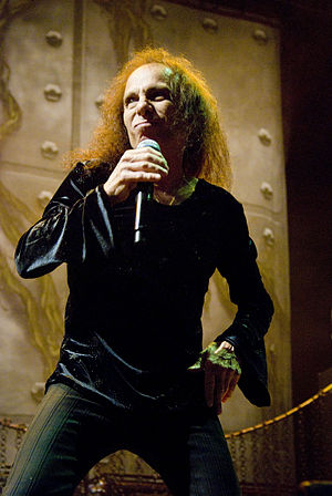 English: Ronnie James Dio on tour with Heaven ...