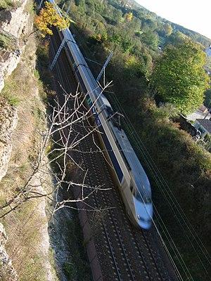 TGV Réseau bound for Paris on a classic line i...