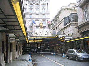English: The Savoy Hotel, London. After a hard...