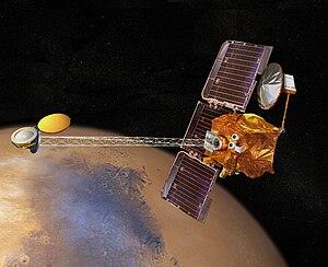 Artistic impression of the 2001 Mars Odyssey o...