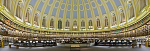 The British Museum Reading Room. A panorama of...