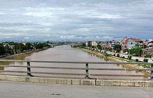 Lạch tray River viewed from An đồng Bridge in ...