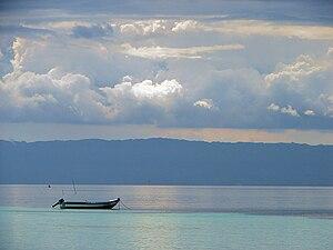 English: Cebu Island as seen across the Cebu S...