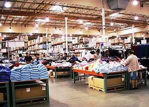 The interior of a typical Costco warehouse clu...