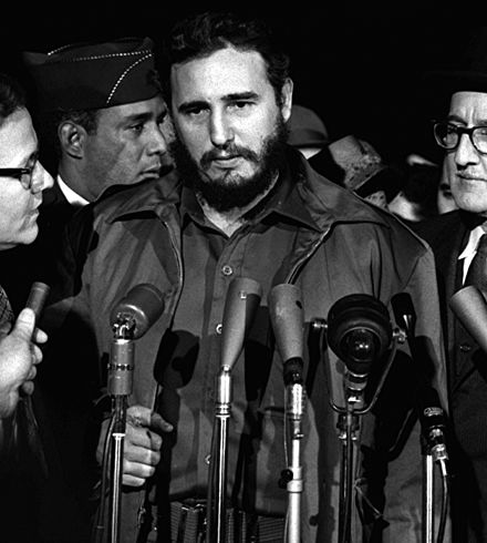 Image result for Fidel Castro, proclaims Cuba a socialist nation & abolishes elections.