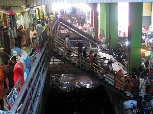 English: Tanah Abang Market. One of the city's...