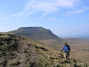Simon Fell, North Yorkshire, with Ingleborough...