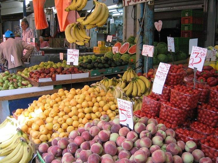 Israel produce market
