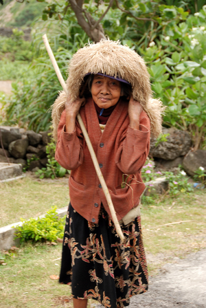 An Ivatan woman
