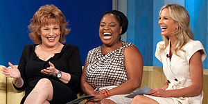 From left: Joy Behar, Sherri Shepherd, and Eli...