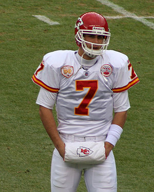 Matt Cassel, a player on the Kansas City Chief...