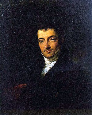 Portrait of Washington Irving in about 1820.