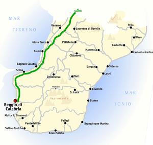 """""""Province of Reggio Calabria"""" Map"""