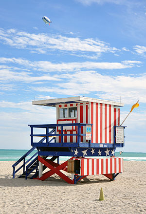 English: South Beach Miami lifeguard post 2009