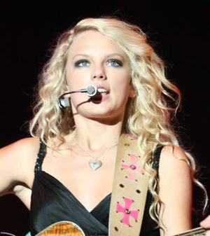 American country musician Taylor Swift perform...