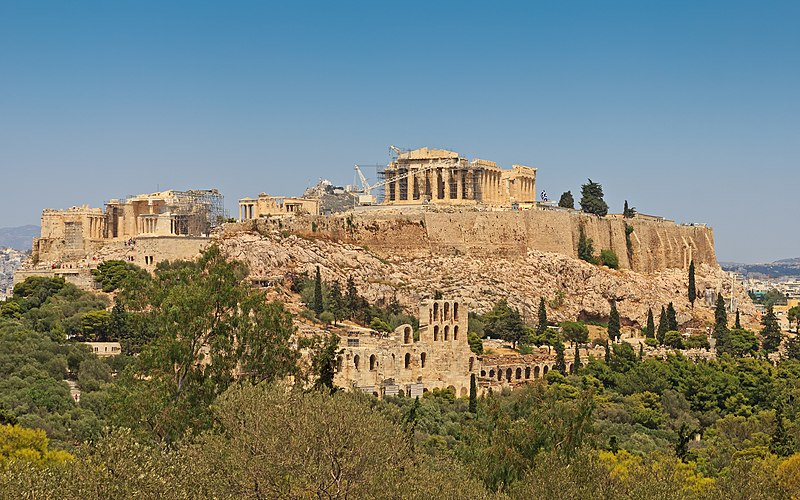 File:Attica 06-13 Athens 50 View from Philopappos - Acropolis Hill.jpg