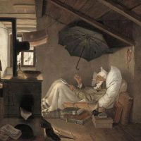 """The Poor Poet"" by Carl Spitzweg"