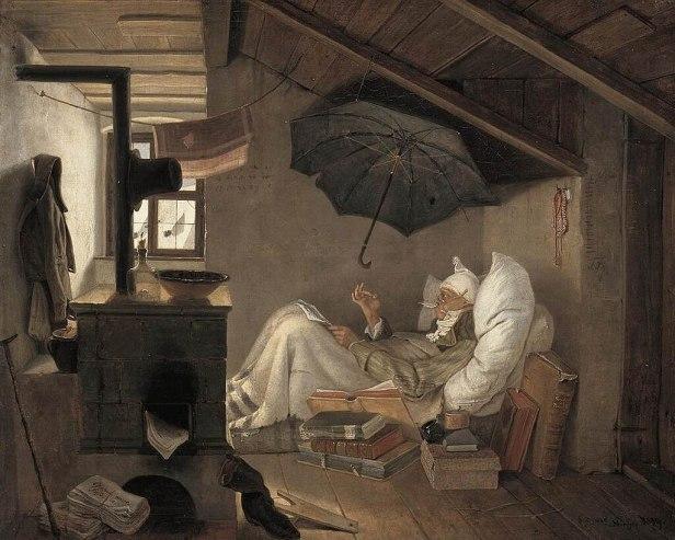 """The Poor Poet"" by Carl Spitzweg"
