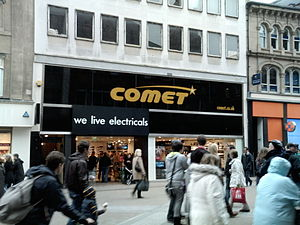 English: Comet electrical retailer on Briggate...