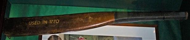 Cricket Bat 1770s - www.joyofmuseums.com - National Sports Museum